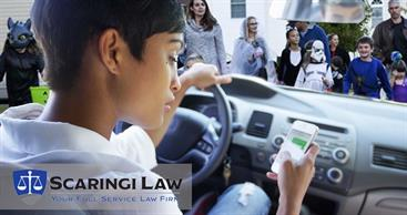 Distracted driving with use of cell phone