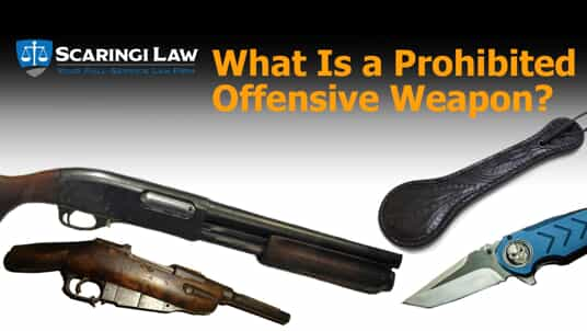 Offensive weapons in Pennsylvania.