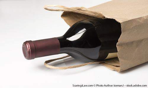 Wine in a paper bag
